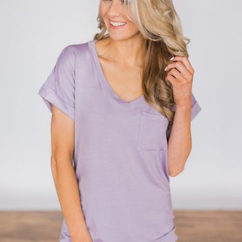 The Perfect Pocket Tee - Lavender