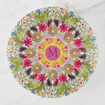 Colorful Abstract Mandala Trinket Trays