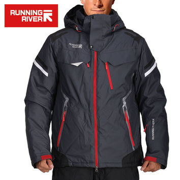 RUNNING RIVER Brand Men Ski Jackets Waterproof