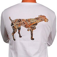 SPC Signature Long Sleeve Logo Tee Featuring RealTree in White by Southern Point Co.