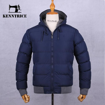 Winter Coat Parka reversible Jacket Men Fashion Waterproof Men's Parkas Hooded Warm Cotton-Padded