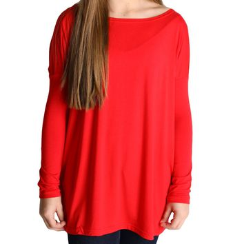 Red Piko Kids Long Sleeve Top
