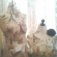 French Boutique dress form and bust craft booth displays Paris Eiffel Tower deal