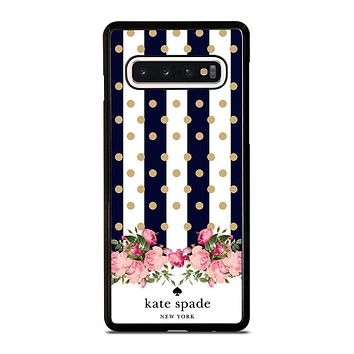 KATE SPADE NEW YORK POLKADOTS FLORAL Samsung Galaxy S10 Case Cover