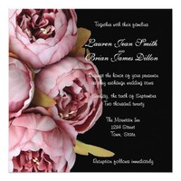 Beautiful Mauve, Peonies, Custom Wedding Card