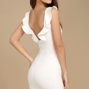 Simply Radiant White Bodycon Dress