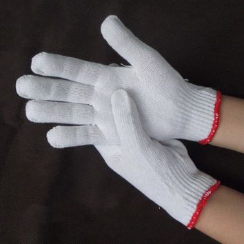 Cotton White Gloves Workplace Safety Gloves G0405