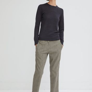 Houndstooth Check Cropped Trousers by 6397- La Garçonne