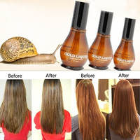 Snail percent Pure 100 Hair Oil Macadamia Nut Oil Hair Scalp Treatment for Dry and Damaged Hair Make Your Hair Soft Shine (Color: Brown) [8323212161]