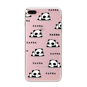 Lazy Panda Case Cover for iPhone X 8 7 6s 6 Plus with Gift Box