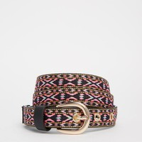 Glamorous Belt with Multicoloured Embroidery at asos.com