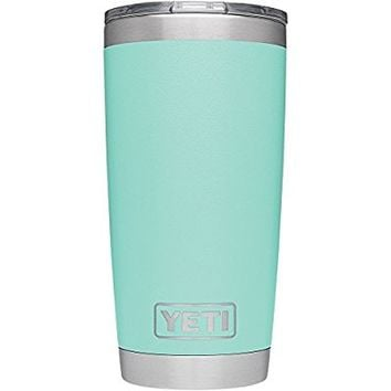 Rambler 20 oz Stainless Steel Vacuum Insulated Tumbler with Lid, Seafoam