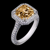 2.75 ct. Champagne brown diamonds anniversary ring gold
