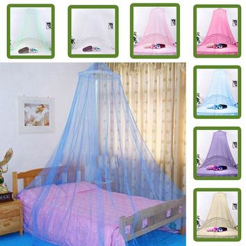 Outdoor Elegant Round Lace Insect Bed Canopy Netting Curtain Dome Mosquito Net