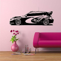 Subaru Rally Edition Racing Wall Art Sticker Decal a52
