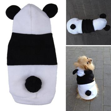 Pet Dog Clothes For Dogs Pets Costume Clothing Fleece Panda Ear Hoody Clothes Pullover Coat Costume Outwear ropa para perros