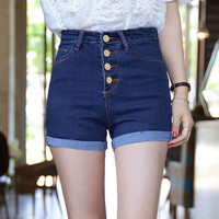 2016 New Fashion Women Short Jeans Summer High Waist Stretch Denim Shorts Slim Korean Casual women Jeans Shorts Hot Plus Size
