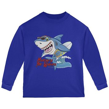 Shark Hungry for Waves Toddler Long Sleeve T Shirt