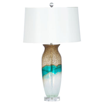 Surfside Table Lamp, Caramel/Turquoise, Table Lamps