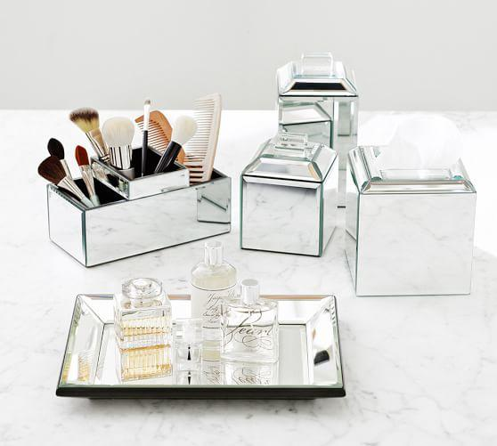 Bathroom Accessories Pottery Barn : Mirrored bath accessories from pottery barn home