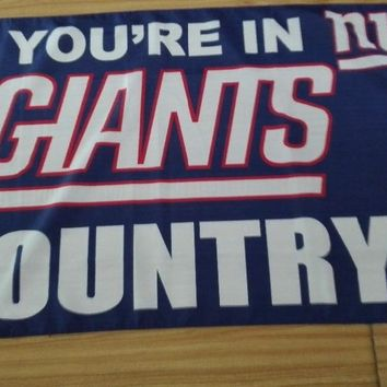 NEW 3X5 FT NEW YORK NY GIANTS COUNTRY OFFICALLY LICENSED FREMONT DIE NFL FLAG,