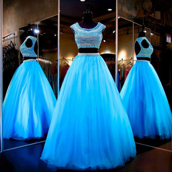 Luxury Full Beading Prom Dresses