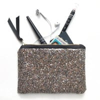 Starry Night Glitter Cosmetic Bag