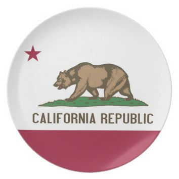California State Flag Plate