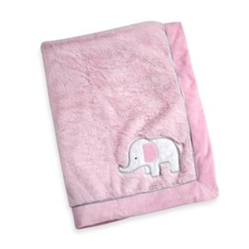 Wendy Bellissimo™ Mix & Match Elephant Applique Plush Blanket in Pink