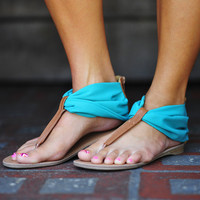 Start Of Summer Sandals: Sea Green | Hope's