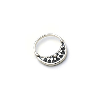 Ceremonial Kamon Sterling Silver Stack Ring