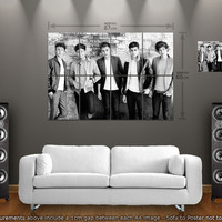 1D One Direction Band : Large Giant Wall Poster Art Print - A4 x 8 + 1 FREE