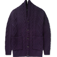 Burberry Prorsum - Oversized Chunky Cable Knit Cashmere Cardigan | MR PORTER