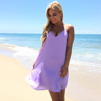 Summer Binge Shift Dress in Lilac