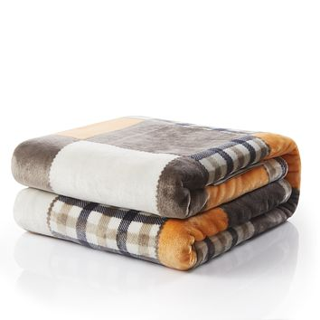 Tache Fall Farmhouse Super Soft Plaid Patchwork Throw Blanket (4021)