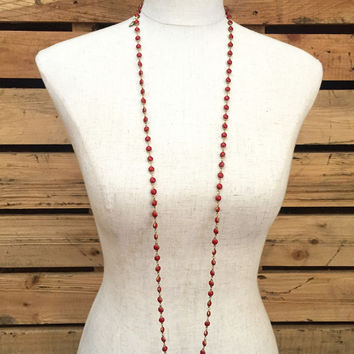 Betsy Pittard Designs- Brittany Necklace- Red