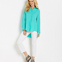 Eileen Fisher Petite Handkerchief Shirt