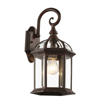 Trans Globe Lighting 4181VG Botanica 15 3/4 Inch Outdoor Coach Lantern -Verde Green - (In VG-Verde Green)