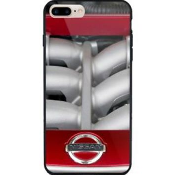 Nissan GTR Engine Red Edition for iPhone 6 6s 7 8 Plus Hard Plastic Case