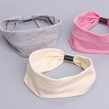 Korean Style Women's Hair Band Cotton Casual Face Shield Headband Hair Accessories Hair Bows