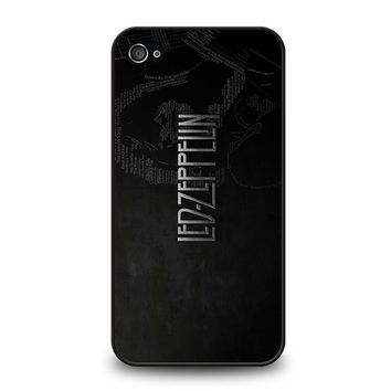 LED ZEPPELIN LYRIC iPhone 4 / 4S Case Cover
