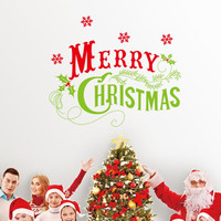 merry christmas snowflakes wall stickers christian room home decoration 17. diy vinyl xmas decals festival mural art posters 5.0 SM6