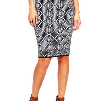 Step Repeat Pencil Skirt