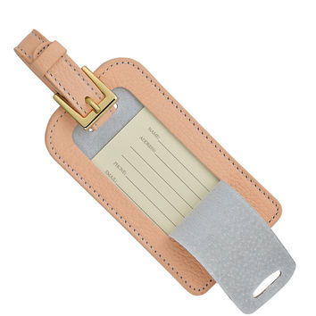 Luggage Tag Blush Full Grain Leather