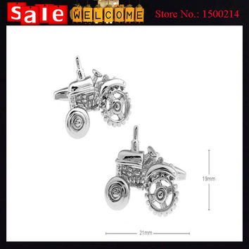 Cuff Links Silver Plated Shape\pattern: Tractor Car Color: White Matrial: Silver Plated