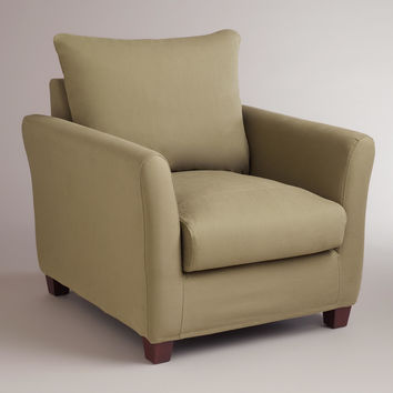Sage Luxe Chair Slipcover - World Market