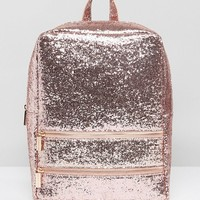 Skinnydip Pink Glitter Backpack at asos.com