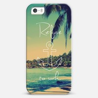 Refuse to Sink Vintage Beach Anchor iPhone 5s case by Rex Lambo | Casetagram