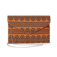 Nordic Pattern Design Clutch Bag in Orange not available