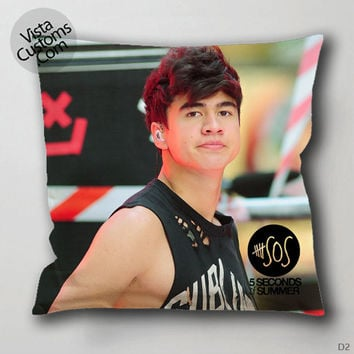 5 Seconds Of Summer Calum Hood Pillow Case, Chusion Cover ( 1 or 2 Side Print With Size 16, 18, 20, 26, 30, 36 inch )
